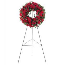Red Regards Wreath