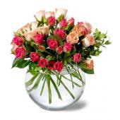 Teleflora's Crimson & Coral Roses